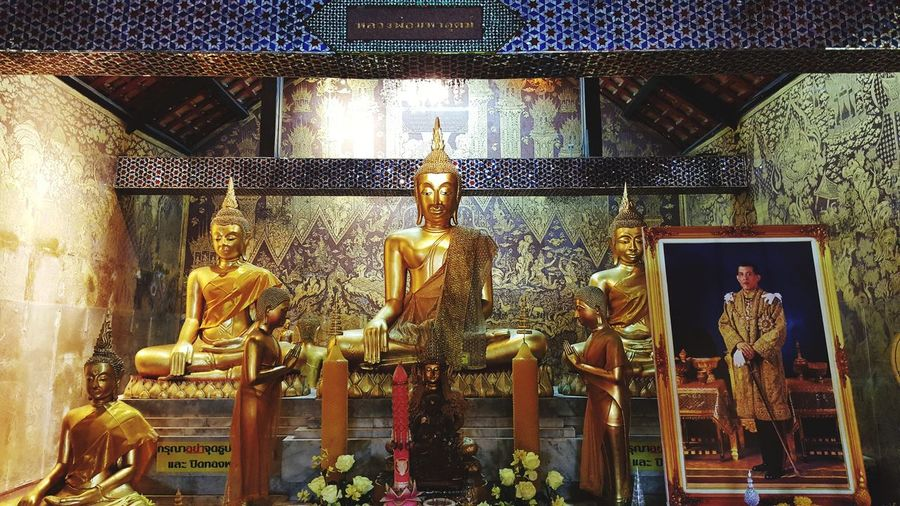 Thailand Monk  Region Bhudha Buddha Buddhism Temple Human Representation Male Likeness Statue Sculpture Indoors  Religion Spirituality Architecture Built Structure Day