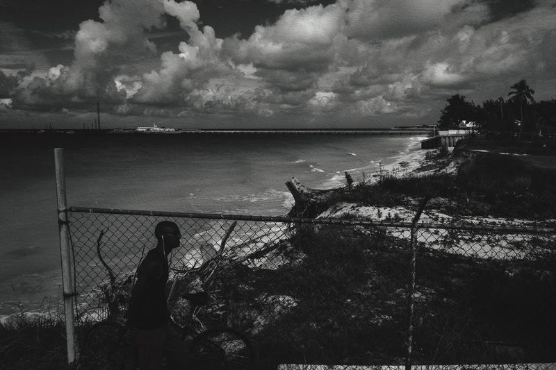 Passing of Time Monochrome Photographyisthemuse Ocean View Day Outdoors Seascape Black And White Scenics Clouds And Sky Self Portrait