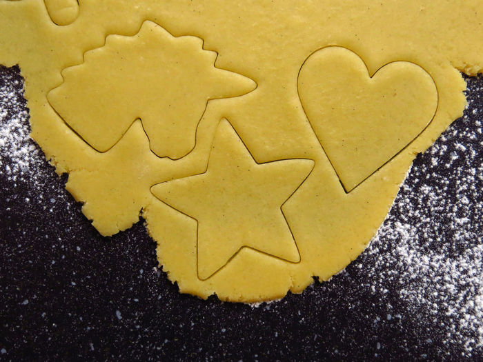 Cookie Cookies Cookie Cutter Baking Baking Cookies Biscuits Pastry Dough Cookie Dough Christmas Cookies Christmas Christmas Baking High Angle View Star Shape Heart Shape Preparing Food Temptation Preparation  Baked Shape Sweet Food Unicorn Flour Still Life Food And Drink