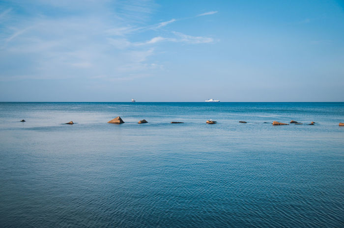 The Gulf of Salerno Blue Italy Salern Sea Sea And Sky Seascape Sky Summer Water
