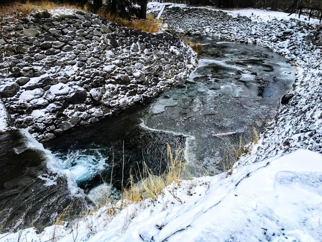Nature Snow Winter Cold Temperature Water Outdoors No People Frozen Beauty In Nature Day Landscape Cold