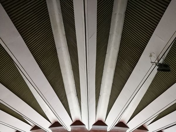 Ceiling Architecture Indoors  Architectural Feature Built Structure Modern Architectural Design No People Day Futuristic Bangkok Thailand. Huamark Indoor Stadium Curve City Architecture