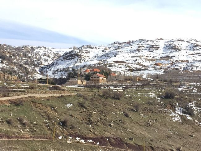 Lebanon Houses Mountain Nature Scenics Beauty In Nature Landscape Snow Cold Temperature Winter