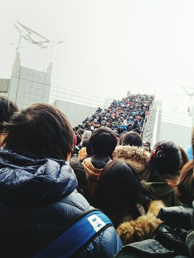 It's crowded City Lifestyles Crowd People Togetherness Women Adult Adults Only Friendship Architecture Outdoors Cityscape Sky Day Crowded Crowded People Crowded Place Crowdy Crowd Concept Crowd Stairs LINE Row Crowd Line Crowded Line Japan