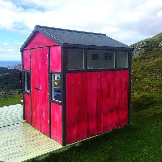 Home Is Where The Art Is Colour Of Life Norge Norway Pink Pink Color Cabin Cottage Hidra Island Islandlife Northsea North Sea Rough Sea Wind Windy Day