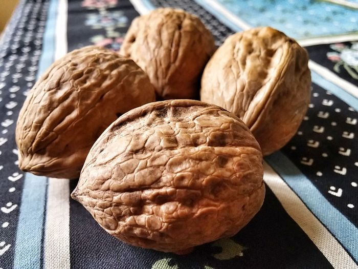Close-Up Of Walnuts On Table