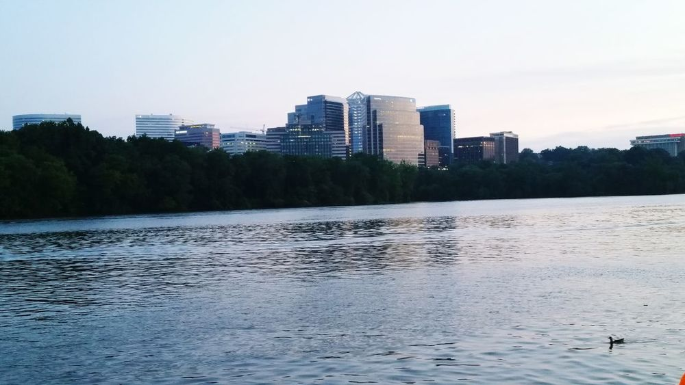 Cityscapes Washington, D. C. Potomac River Georgetown Beautiful Evening Roslyn, VA
