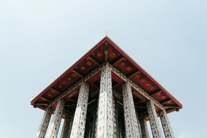 Architecture Architecture_collection Architectural Column Architectural Detail Architectural Feature Architecture Architecturelovers Building Building Exterior Built Structure Clear Sky Day Detail Low Angle View Nature No People Outdoors Roof Sky Temple Temple - Building Temple Decoration