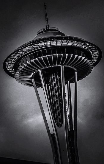 Seattle Seattle Space Needle Black And White Space Needle I Love My City Looking Up... Space Needle