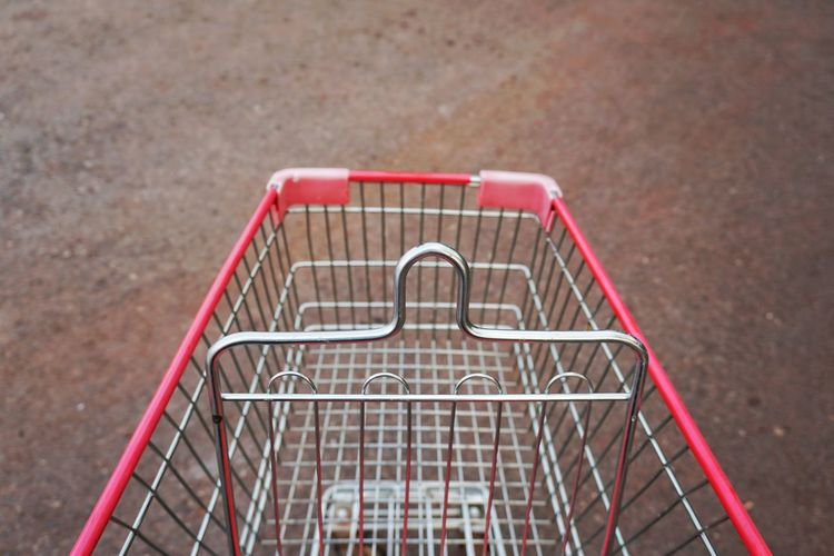 Shopping Cart Metal Consumerism No People Outdoors Day Childhood