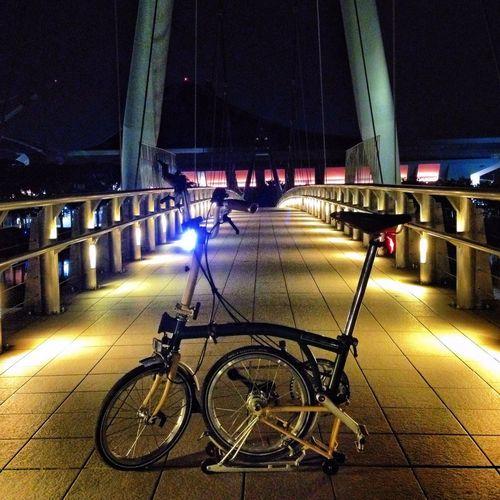 Night ride. Brompton