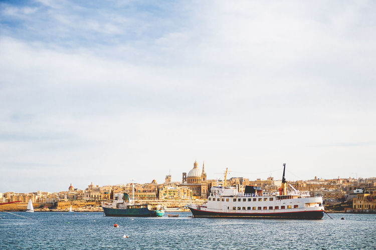 Cathedral and other historical buildings at panorama view of valletta, malta.