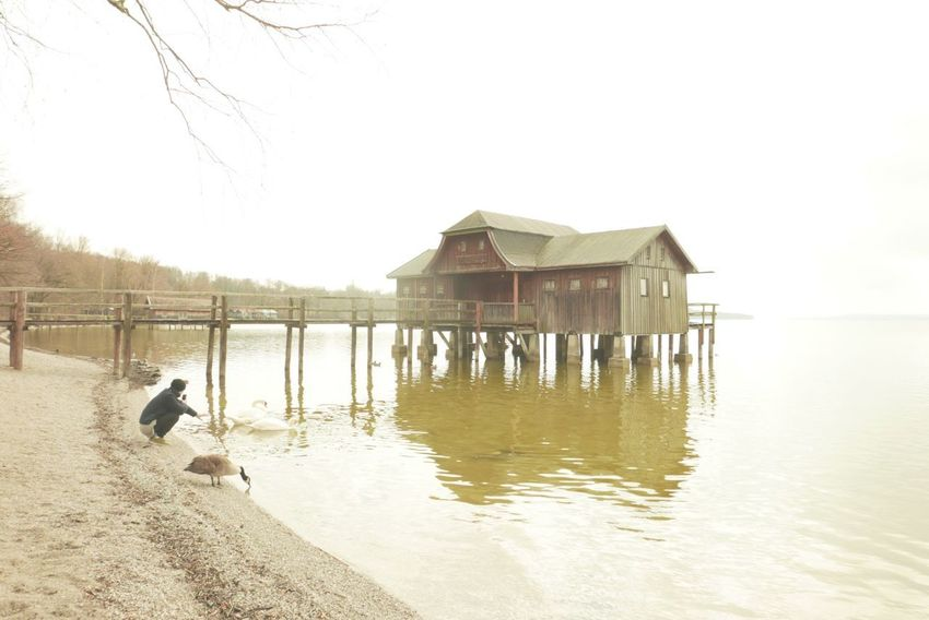Ammersee Lumix Lx100 Water Built Structure Architecture Outdoors Sea Stilt House Day Sky Nature One Person