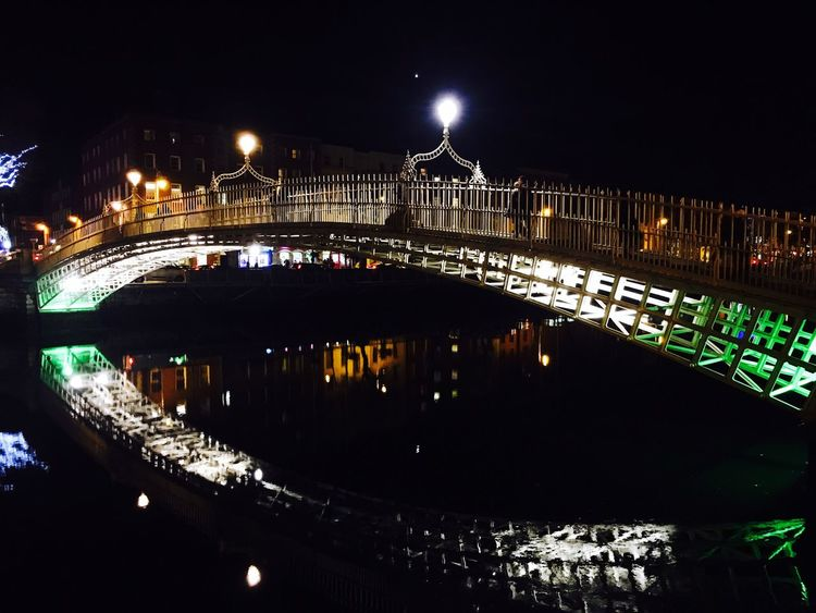 Hay penny bridge Night