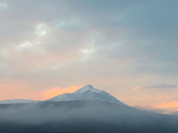Mountain Cloud - Sky Nature Scenics Beauty In Nature Sky Outdoors Snow Landscape Day