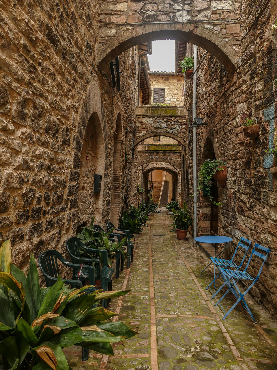 architecture, built structure, arch, building exterior, history, building, the past, day, no people, old, wall, ancient, nature, wall - building feature, the way forward, plant, stone wall, direction, outdoors, staircase, ruined, arched