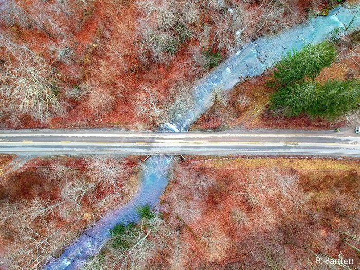 Top View Colors Dronephotography Drone  Bridge Red Aerial View Aerial Photography Dji Color Splash Road Country Country Road Stream Blue Curve Straight EyeEm Best Shots EyeEmNewHere EyeEm Nature Lover Eye4photography  EyeEm Gallery