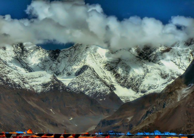 Mountain Snow Winter Cold Temperature Snowcapped Mountain Cloud - Sky Landscape Beauty In Nature