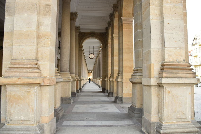 Architectural Column Travel The Way Forward Outdoors Endless Karlovy Vary Time To Reflect
