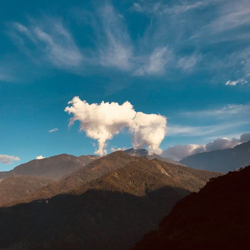 Pop Up Mountain Nature Sky Cloud - Sky Beauty In Nature Scenics Tranquility Mountain Range Landscape No People Outdoors Day