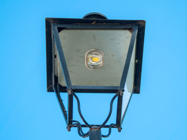 EyeEm Best Shots EyeEmNewHere LED Lantern Light Lighting Equipment Street Light Street Lamp Blue Blue Background Clear Sky Close-up Copy Space Day Ecological Ecology Efficiency Electric Lamp Electrical Equipment Electrical Light Energy Energy Efficient Energy Industry Environment Environmental Conservation First Eyeem Photo Geometric Shape Lamp Led Lights  Lighting Equipment Low Angle View Metal Mode Of Transportation Nature No People Outdoors Progress Retro Styled Security Shape Sky Streetlights Technology Transparent Transportation