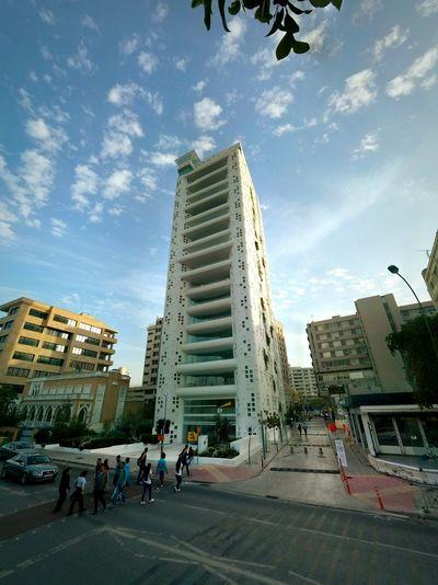 White Building Modern Architecture Nicosia Cyprus