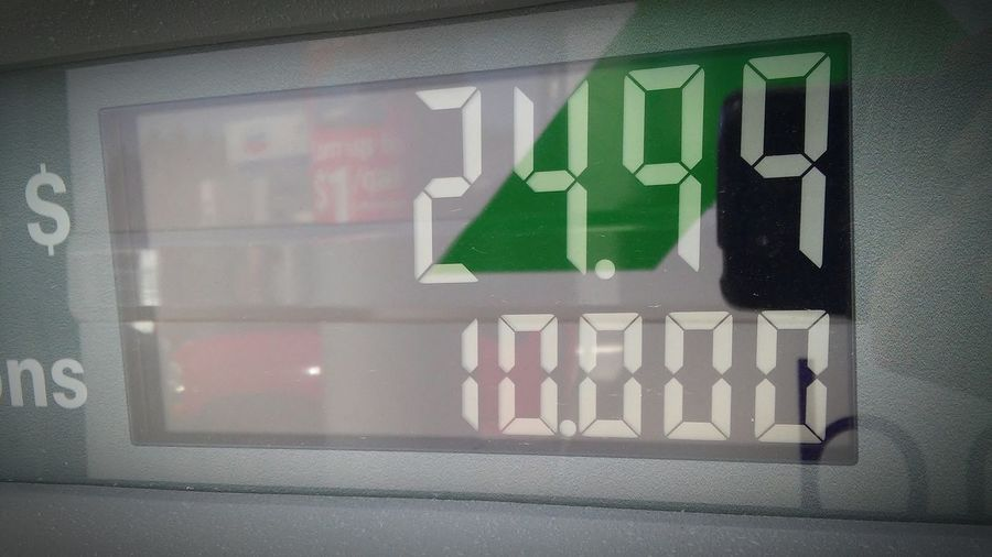 Taken at gas station...i call it OCD nightmare Close-up No People Horizontal