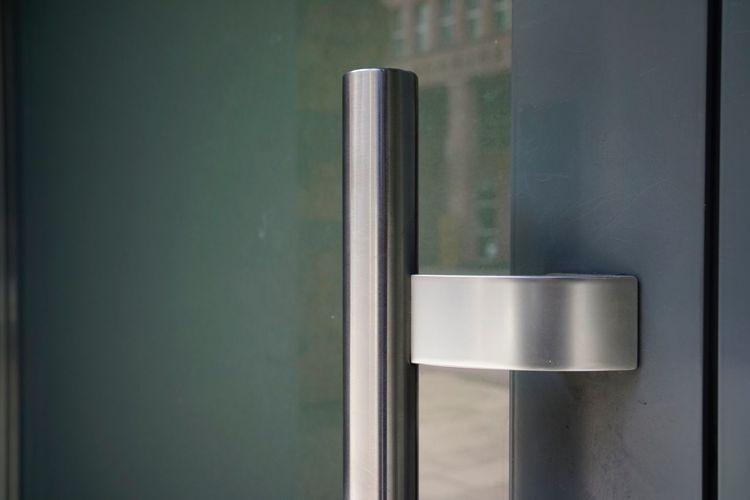 Close-up of metallic door knob