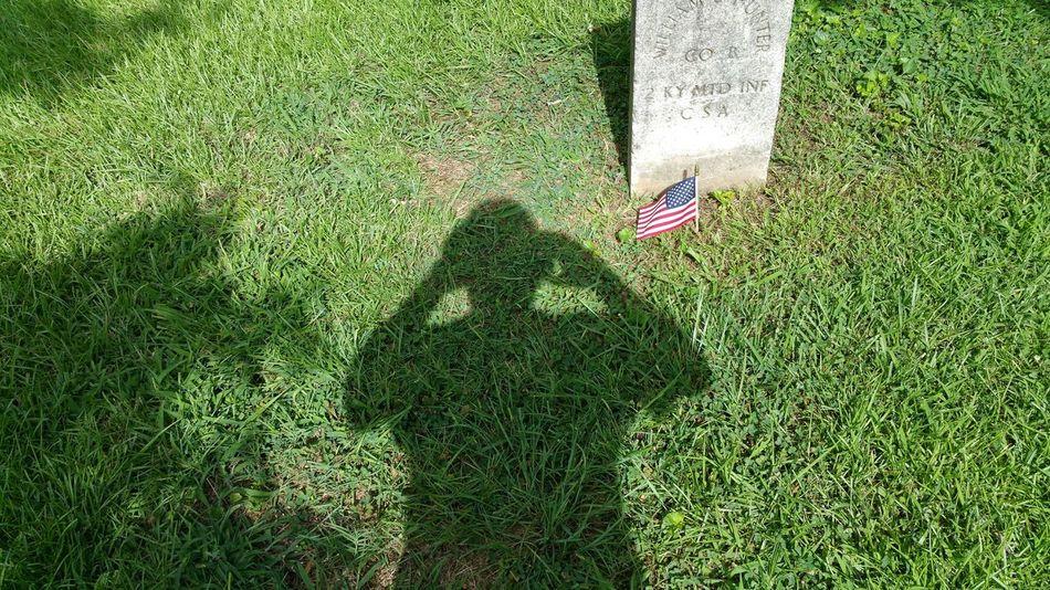 Civil War Oakland Cemetery, Atlanta Georgia Shadow