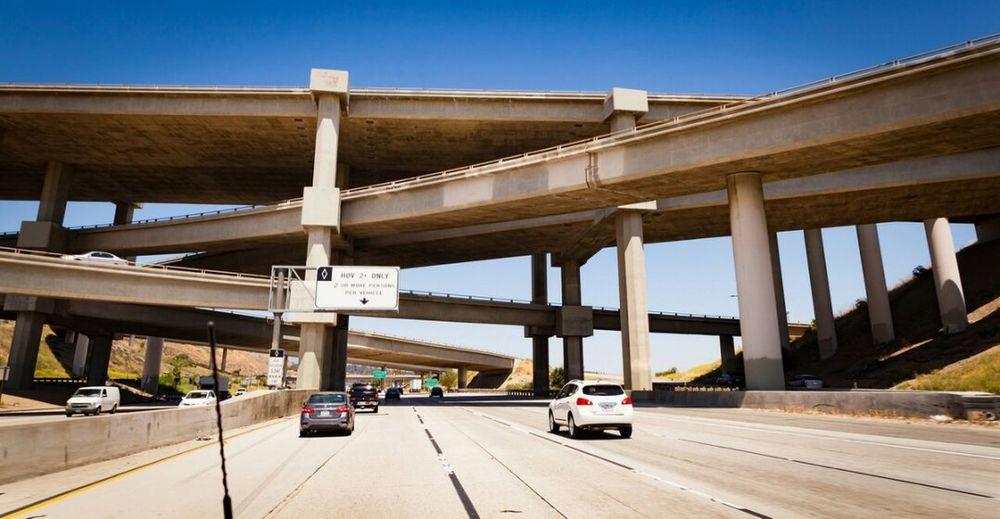 Spaghetti freeway! Freeway Bridge - Man Made Structure Built Structure Transportation Highway Connection Road Architecture Sunny Day Clear Sky Outdoors No People Sky Bridge Concrete Concrete Jungle