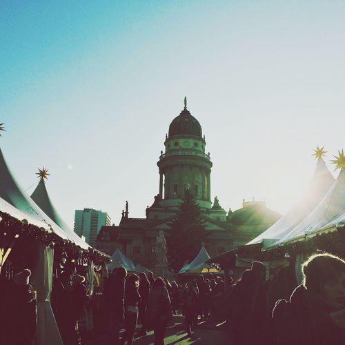 Last year at the Christmas market in Berlin it was freezing cold. But the Sun was shining. :) Gendarmenmarkt Christmastime Winter
