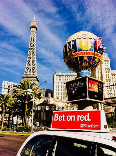 Vegas baby! Vegasattraction VEGAS🎲 Hot Day Casino Enjoying The View París Hotel-Las Vegas, Nevada Edit Text Outdoors Communication Sky Day Arts Culture And Entertainment Travel Destinations Architecture