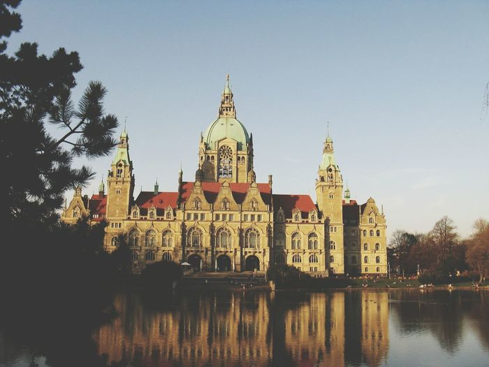 Hannover. Architecture Sightseeing Hannover Sunrise