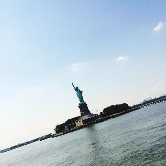 MissNY Newyork Blue Sky Freedom Boats⛵️ Family❤ Miss Relaxing Home Dreaming