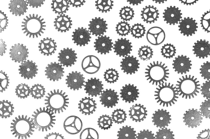gears Abundance Backgrounds Circle Close-up Design Digital Composite Directly Above Food Food And Drink Gear Geometric Shape Healthcare And Medicine Indoors  Large Group Of Objects No People Plant Shape Steampunk Still Life Studio Shot Variation White Background White Color