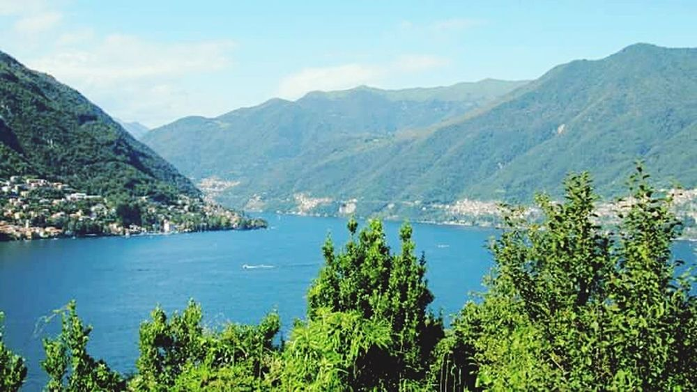 Nature Lake Como Summer Mountains