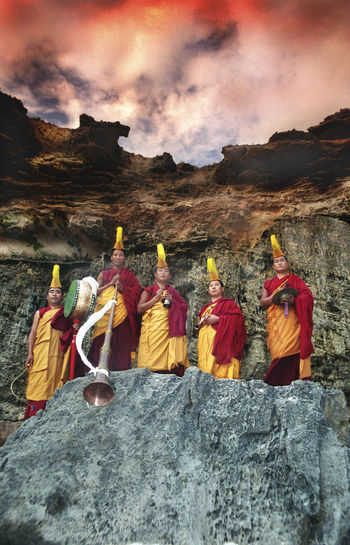 Gyuto Monks of Tibet Gyuto Monks Of Tibet Holiday Tibetan Buddhism Belief Buddhism Mountain Mountain Range Religion Rock - Object Spirituality Tibet Tourism Travel Destinations Vivid International