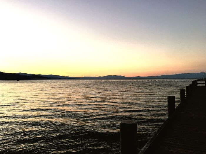 LakeTahoeSunset Scenics Tranquility Nature Sunset lake