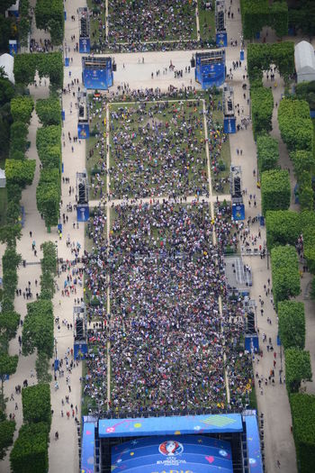 Copter Crowd Drones Eurocup  Flying High Football Fever High Angle View Lots Of People Outdoors