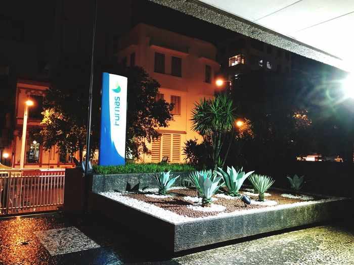 Work @night. Furnas. Illuminated Night Architecture Built Structure No People Building Exterior