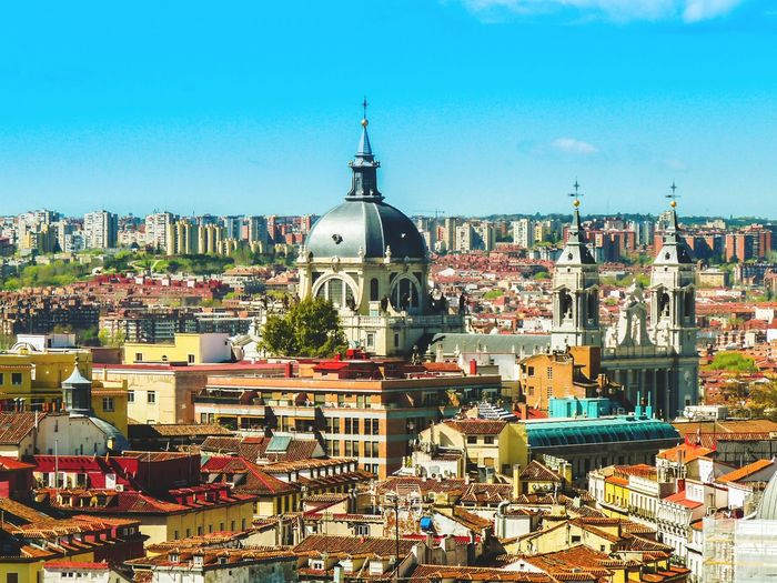 A kind of a skyline Bird View City Architecture Cathedral Palace Colors Madrid Spain