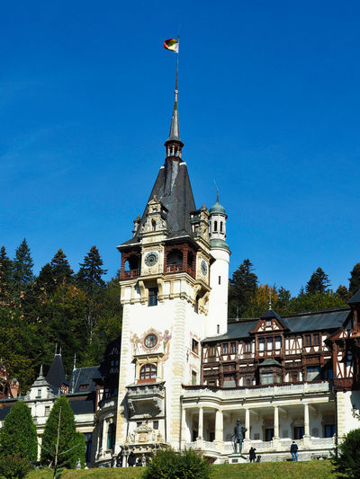 Medieval Castles Neo Renaissance Built Structure Architecture Building Exterior Sky Building Tree Nature Tower Blue The Past Day Outdoors Spire  Medieval Castle Sinaia Travel Photography Travel Destinations Historical Building Eastern Europe Romania