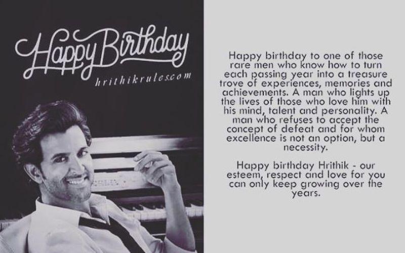Happy 42nd Birthday to our very own Bollywood's Greek God Hrithik Roshan 🎂 Dancinggod Duggu