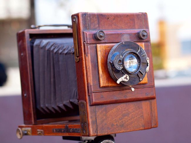 Old-fashioned Retro Styled Antique Close-up Camera - Photographic Equipment History No People Photography Themes Outdoors Technology Day Time Antique Camera Antique Shop Antiques Lendscapephotography Lens - Optical Instrument Antique Indoors  Camera - Photographic Equipment Macro Photography