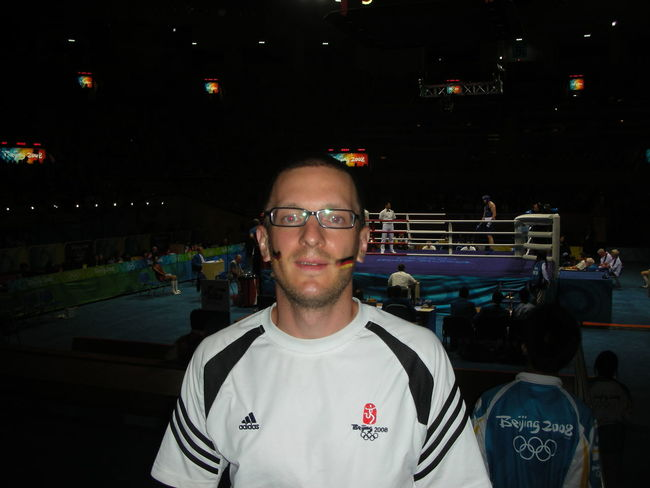 Portrait Looking At Camera Front View Real People One Person Headshot Night Lifestyles Leisure Activity Men Casual Clothing Incidental People Smiling Glasses Adult Architecture Mid Adult Males  Olympics Olympics2012 Olympic Games