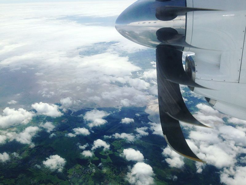 Air Heavens Clouds Fly Propeller Aeroplane From Above  Nature Beauty Break The Mold