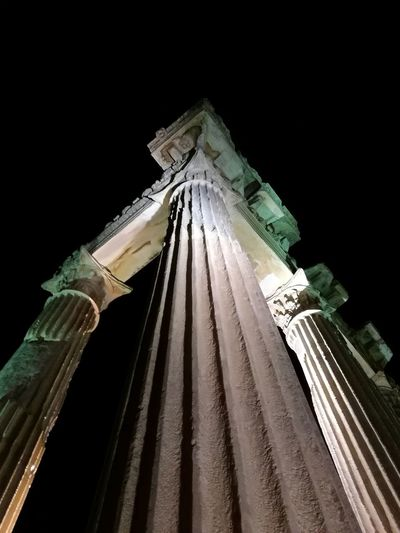 Night Architecture No People Low Angle View Black Background Building Exterior Sky Outdoors Greek Roman The Week On EyeEm