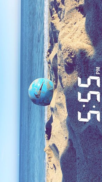 #photography #beach #soccer  #555 Water Day Sea Blue Beach No People Land Sand Sunlight Outdoors High Angle View Close-up
