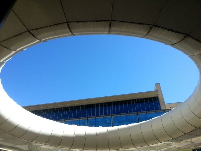 Oval Architecture Sky Blue Built Structure Low Angle View Day Geometric Shape Modern