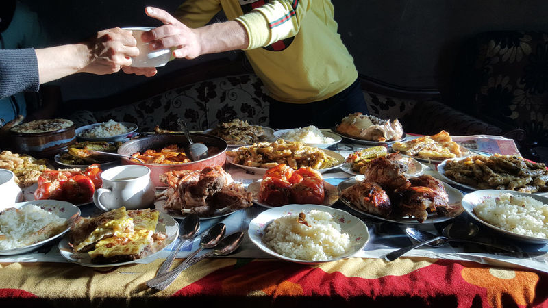 Egypt Egyptian Food Food Ready-to-eat Sharing Meal Table égypte